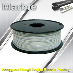 Chine Couleur flexible de blanc de filament de marbre de filament de l'impression 3d de bon sens simple fournisseur