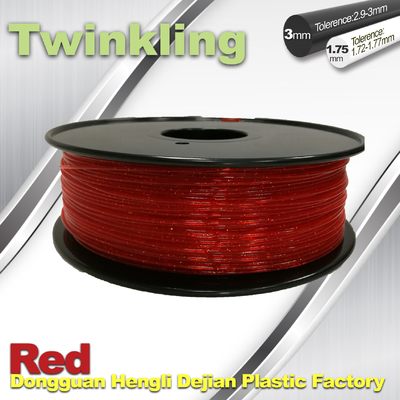 Filament 1.75mm rouge de scintillement du filament flexible 3mm de l'imprimante 3D 1.3Kg/petit pain