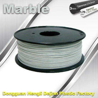 Couleur flexible de blanc de filament de marbre de filament de l'impression 3d de bon sens simple