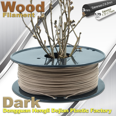 Brown Materia 0.8kg/filament en bois 1.75mm 3mm imprimante du petit pain 3D